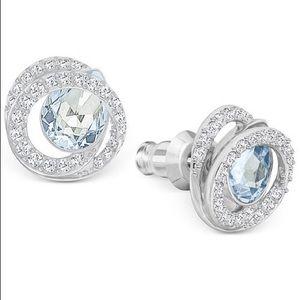 Swarovski blue stud Earrings